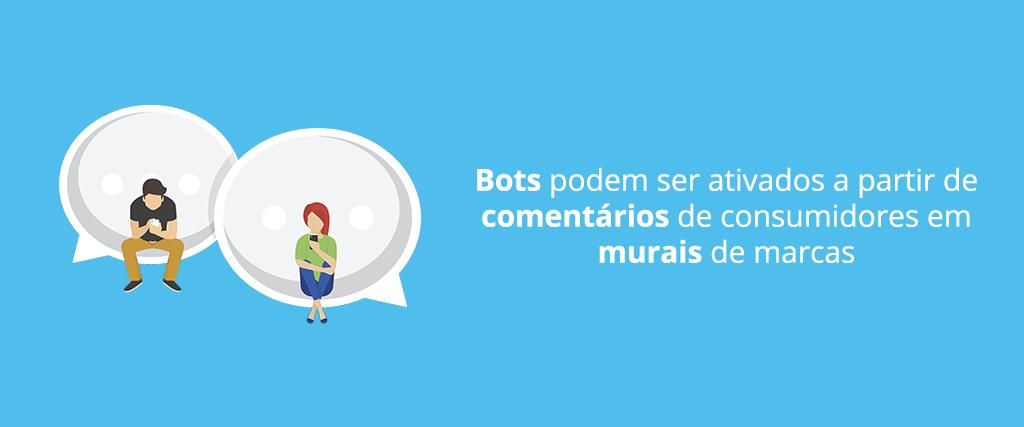 Bots podem ser ativados a partir de comentários de consumidores em murais de marcas