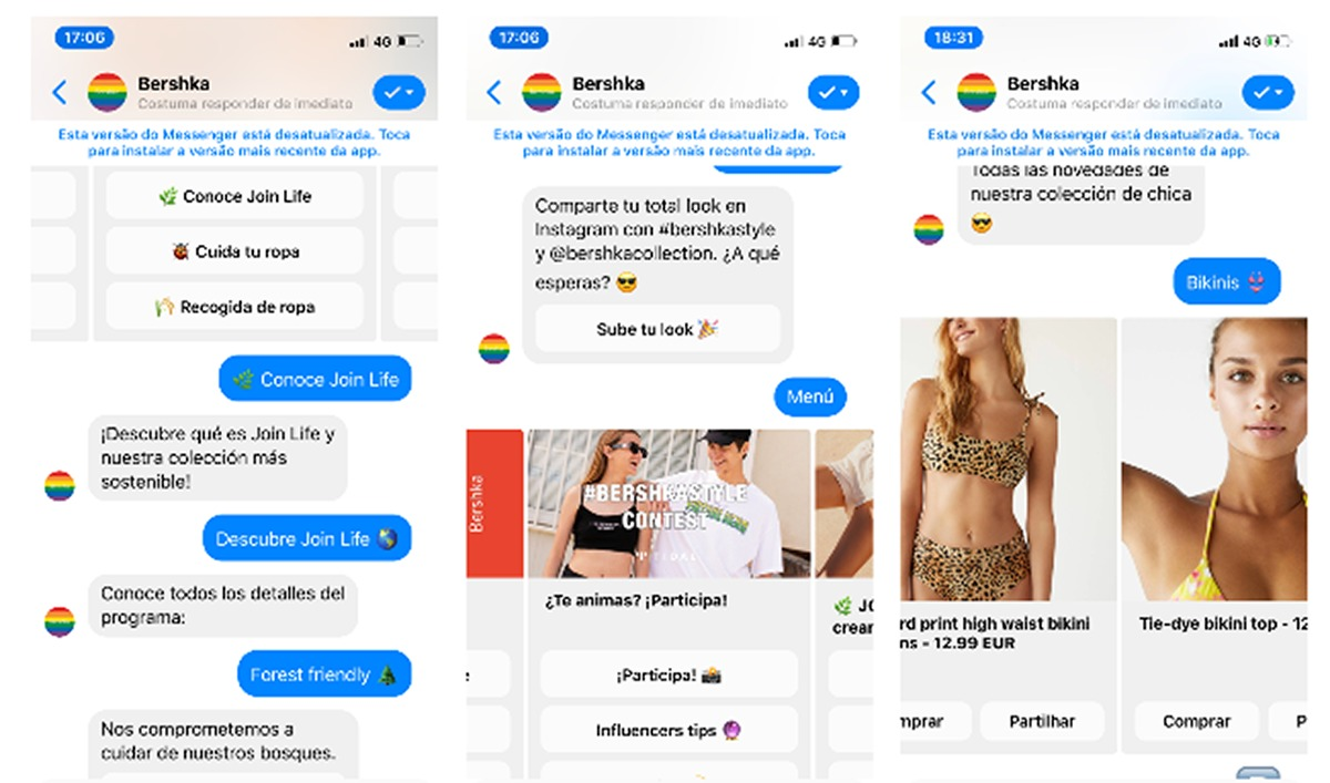 Bershka: o chatbot global da Elife